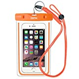 Waterproof Case Bag Pouch : EOTW Waterproof Phone Case Bag Cover with Military Class Lanyard For iPhone 6 6S Plus 5S SE, Galaxy S5 S6 S7 Edge, Note 5 4, LG Blu HTC Nokia For Kayaking Swimming - Orange