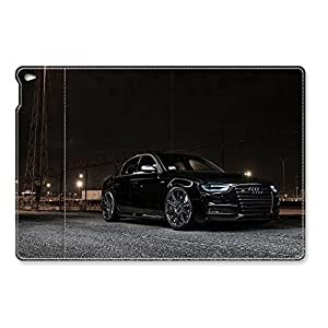 VUTTOO Audi S4 41647 Fashion iPad Air 2 Leather Case Design Flip Folio Magnet Holster Shock-Absorption/Impact Resistant PU Leather Personalized Protective Auto Sleep/Wake Smart Can Standup Cover Case Pattern Skin for iPad Air 2