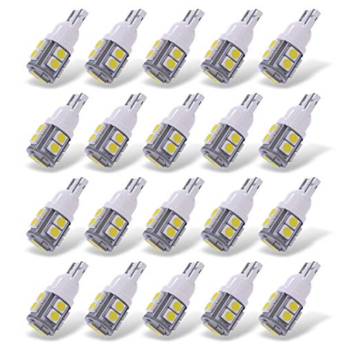 20pcs Super White High Power T10 Wedge LED Interior Light Bulb W5W 192 168 194