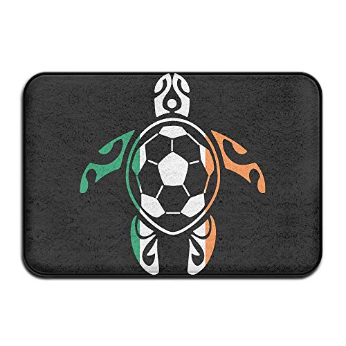 Youbah-01 Indoor/Outdoor Area Rug Floor Mat with Irish Flag Soccer Sea Turtle Graphic for Front Porch by Youbah-01