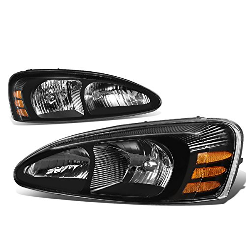 For Pontiac Grand Prix 7th Gen FT1 GT2 GTP Pair of Black Housing Amber Corner Headlight Lamp ()