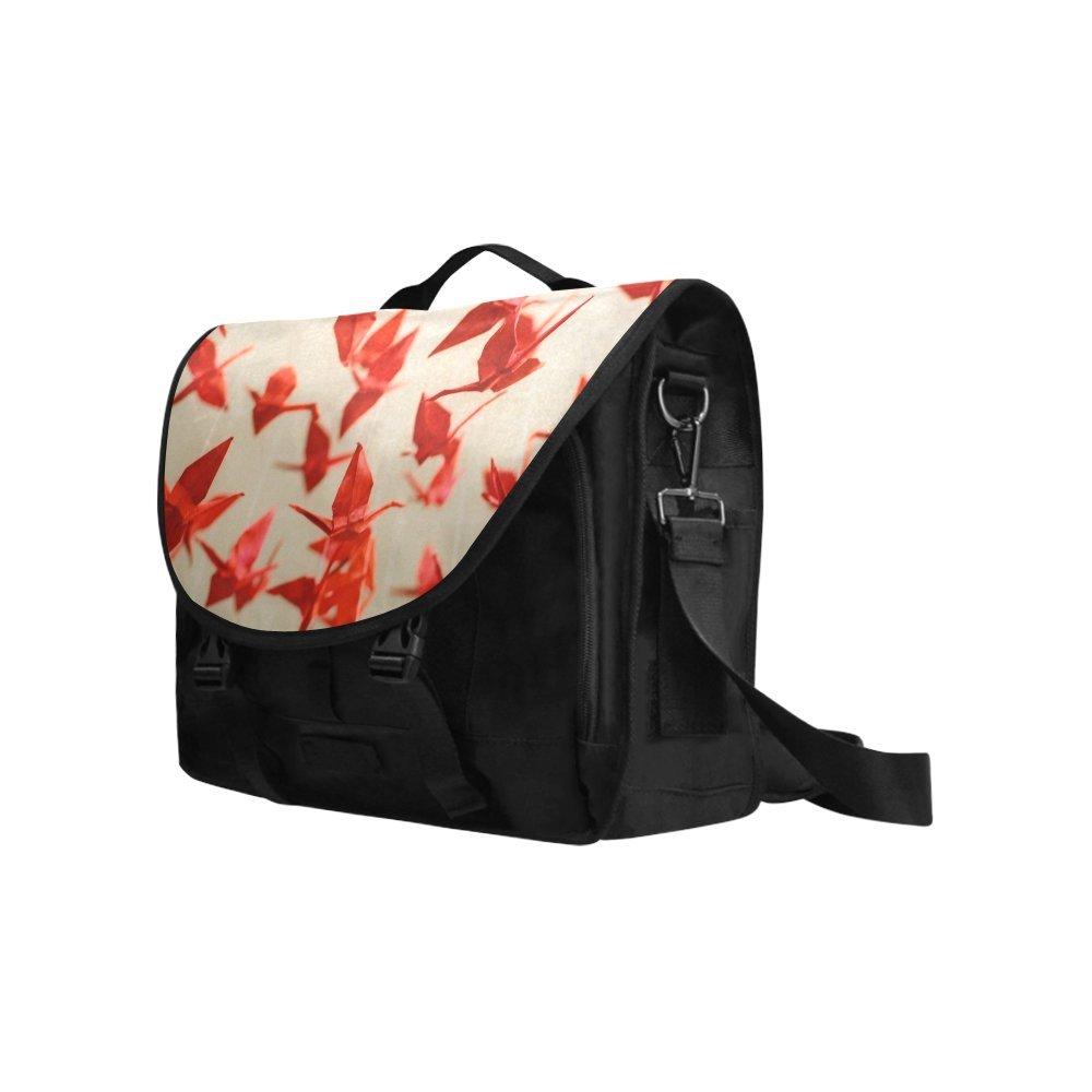 Kitchor Custom 1000 Paper Cranes Oxford Laptop Messenger Shoulder bag