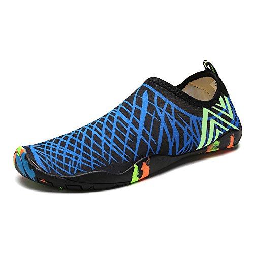 ONCAI Aqua Schuhe Männer Frauen Kinder Barfuß Wasser Sport Schuhe Quick Dry Blau