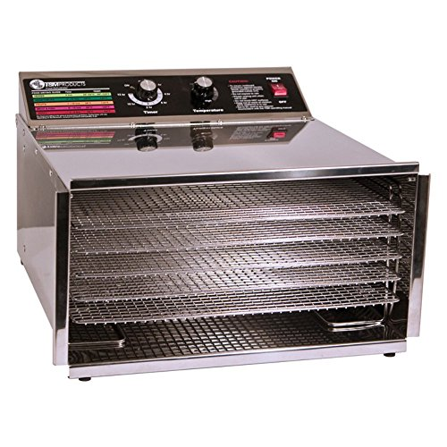 TSM 32603 5 Tray D5 Steel Dehydrator with Stainless Steel Sh