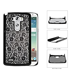 Girly Tight Black Lace Pattern Hard Plastic Snap On Cell Phone Case LG G3