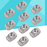 UKCOCO 100Pcs European Aluminum Extrusions Slim T-Nut M4 Thread (M4x10x6)