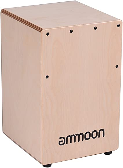ammoon Cajón de Madera Tambor de Caja Tambor de Mano Instrumento ...