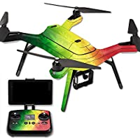 MightySkins Protective Vinyl Skin Decal for 3DR Solo Drone Quadcopter wrap cover sticker skins Rasta Rainbow