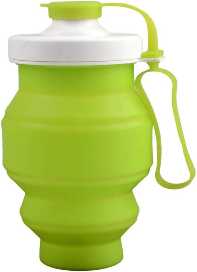 Green Silicone Folding Kettle Eco-Friendly Outdoor Water Bottle Sports Equipment