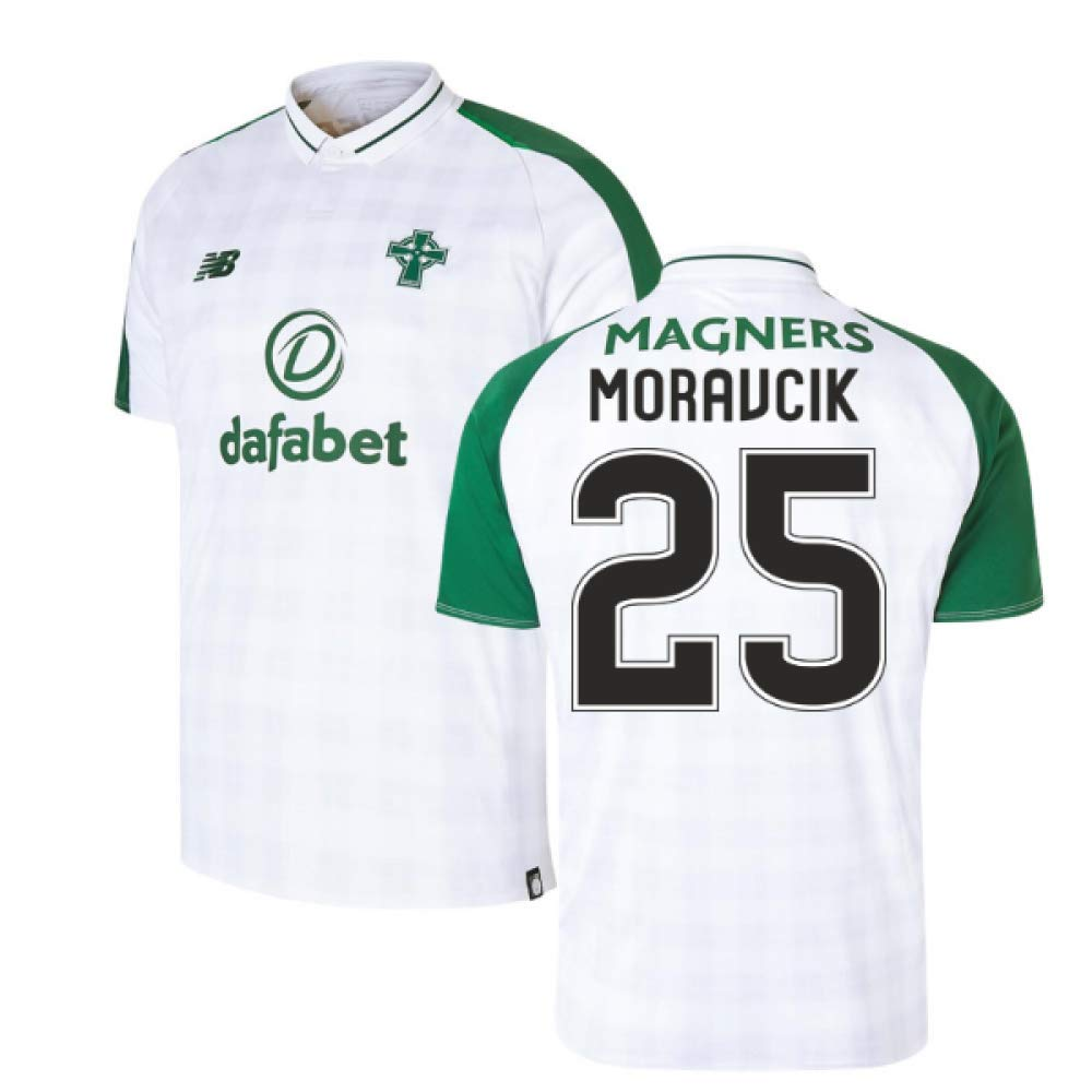 2018-2019 Celtic Away Football Soccer T-Shirt Trikot (Lubo Moravcik 25)