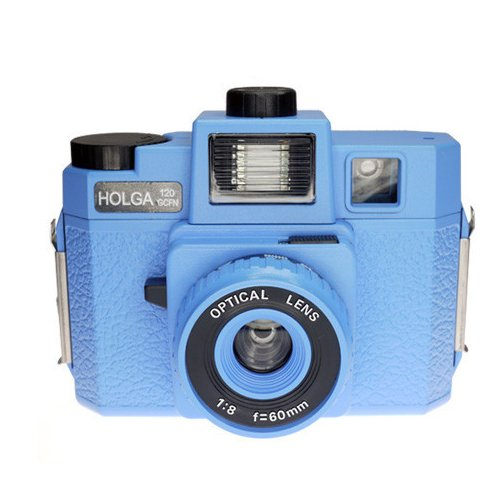 Holga 120GCFN Blue with Glass Lens and Colored Flash Film Camera by Holga