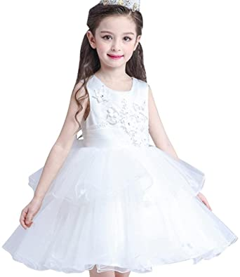 f0d14486a1169 jeansian Kids Girls Sleeveless Wedding Evening Birthday Party Bridesmaid  Toddler Fairytale Princess Show Dresses CH076: Amazon.co.uk: Clothing