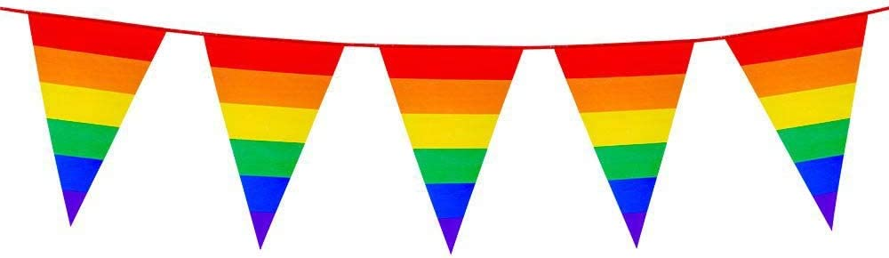 RAINBOW MULTI COLOURED BUNTING OR FLAG THANK YOU BANNER 10/% TO NHS