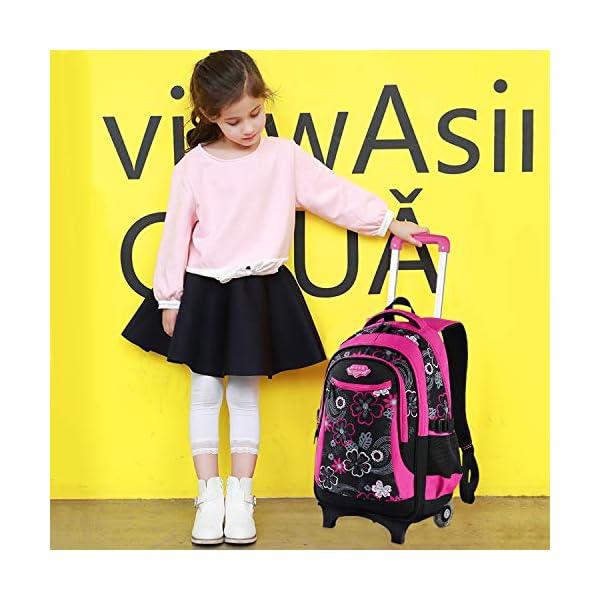 zaino trolley, Fanspack zaino ctrolley zainetto ragazza in nylon zaino trolley scuola elementare scuola media trolley… 2 spesavip