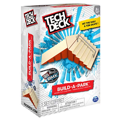 Tech Deck - Build-A-Park - Kicker to 6 Stair Rail (Red) by Tech Deck (Image #3)