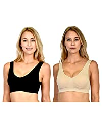Patricia Lingerie Comfort Support Seamless Sports Bra with Removable Pads