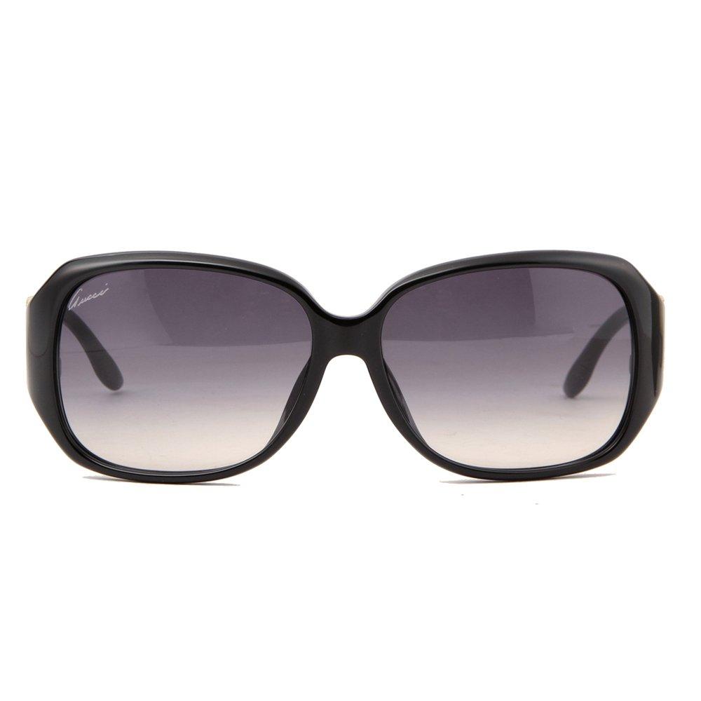 Gucci Women's 3592/FS 3592FS D28/JJ Shiny Black Sunglasses 59mm (Asian Fit)