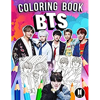 BTS Coloring Book: Bangtan Boys Jumbo Coloring Book With Unofficial Super Cool Images for All Ages