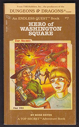 (Rose Estes: Hero of Washington Square Endless Quest #7 PBO 1st 1983 Easley cover)