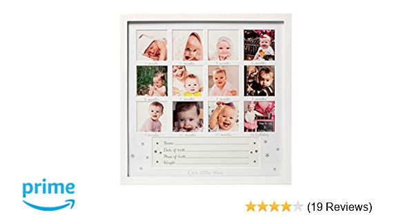 """11/"""" x 14/"""" All Things For Mom First Year Picture Mat with Verse /""""You are Loved Little One/"""" on a White Mat"""
