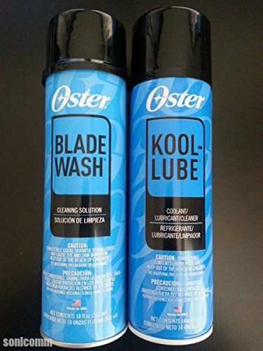 - 2015 OSTER KOOL LUBE 14oz & BLADE WASH 18oz Clean Coolant Lubricates Spray Can
