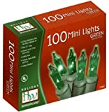 100-Count Green Christmas Light Set