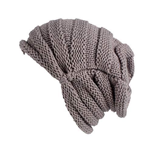 - URIBAKE Women's Winter Wool Knitting Hat Turban Brim Ladies' Hat Cap Pile Cap Crochet