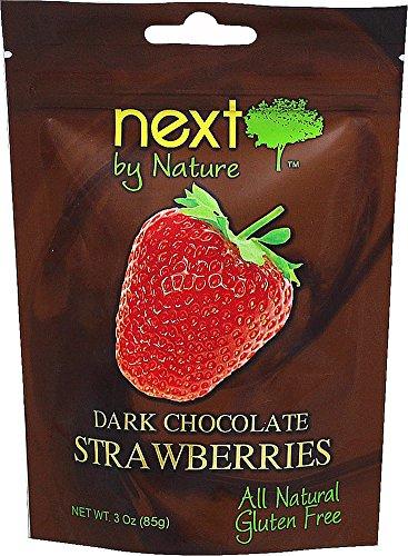 Next by Nature Dark Chocolate Strawberries-3 oz Bag