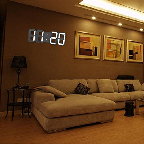 Modern Digital LED Table Desk Night Wall Clock Alarm Watch 24 or 12 Hour Display post thumbnail