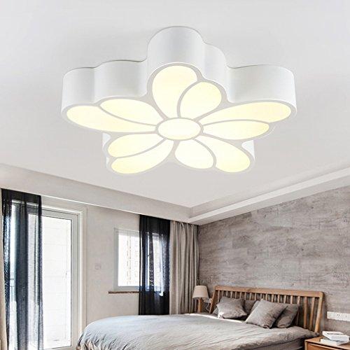 Petals Pendant Lighting - MKKM Master Bedroom Light Warm Romantic Wedding Room Led Ceiling Lamp Modern Simple Study Lamp Creative Petal Restaurant Lighting,62cm,Three-color light