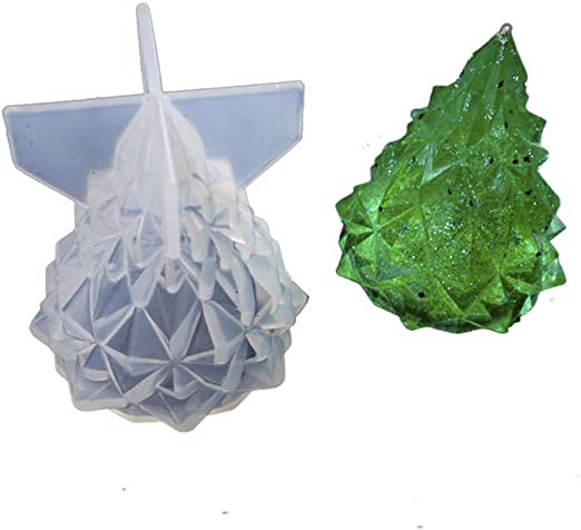 2 Silicone Crystal Heart Mold Jewelry Making Moulds DIY Epoxy Resin Ornament