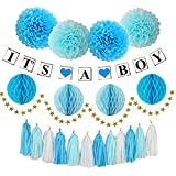 Boy Baby Shower Decorations with IT'S A BOY Baby Shower Decorations Party Supplies