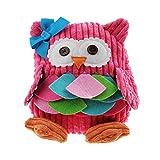 Starsource Toddler Baby Kid Animal Cow/Owl/Frog/Monkey Hug Plush Toy Backpack Hand Tote Bag Snack Bag,Boy/Girl