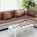 Summer Couch Slipcover, Ice Silk Cool Rattan Sofa Towel Non-slip Sofa Covers For Living Room Sofa Protector Sofa Covers For Dogs-A 70x240cm(28x94inch)