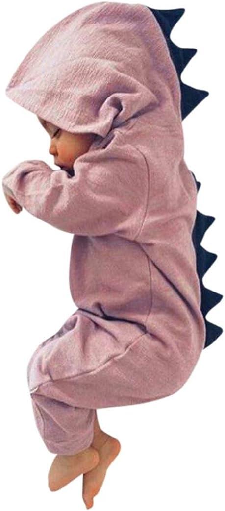 Body Peleles QinMM Mono con Capucha del Dinosaurio de Las Muchachas del beb/é ni/ños ni/ñas