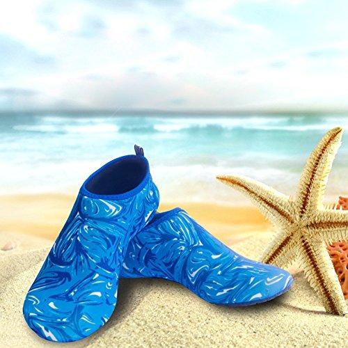 Water Shoes Scuba Quick Dry Calzino Diving Barefoot Skin Shoes Beach Surfing Yoga Scarpe Da Ginnastica Per Uomo Donna Pettine Blu
