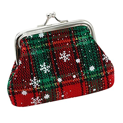 Tenworld 1PC Womens Christmas Small Wallet Coin Holder Purse Clutch Bag (B) (Reflex Pro Clutch)