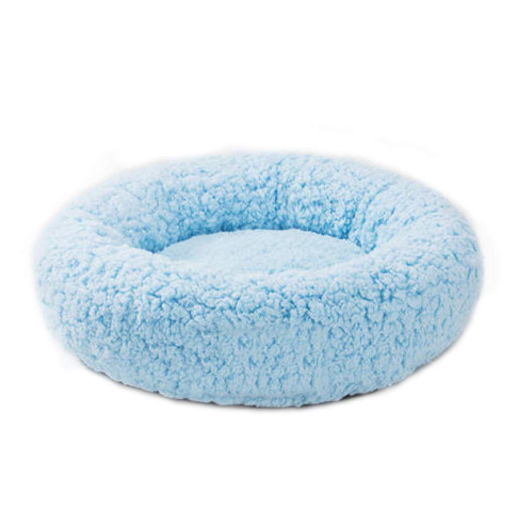 bluee Medium bluee Medium Pet Bed Full Open Pet Nest Four Seasons Universal Small Velvet Dog Cat Litter Bed Villa Warm 2 color Optional UOMUN (color   bluee, Size   M)