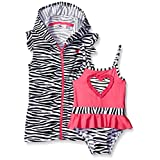 Wippette Girls' Zebra Swim and Cover Up Set