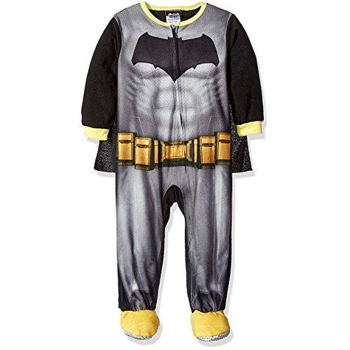 [DC Comics Little Boys' Toddler Fleece Batman Blanket Sleeper with Cape, Black, 4T] (Joker 2016 Costume)