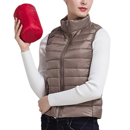彼女は影のある交通渋滞Zhhlaixing 美しいジャケット Korean Fashion レディーズ Lightweight Stand Collar Thin Down Jacket Sleeveless Vest Short Style
