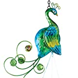 Bits And Pieces Colorful Peacock Wind Chimes Metal And