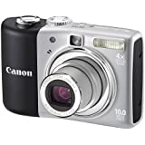 Canon PowerShot A1000 IS Digital Camera - Grey (10.0MP, 4x Optical Zoom) 2.5 LCD
