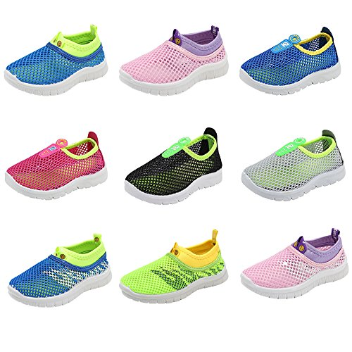 CIOR Kids Light Weight Sneakers AquaShoes Breathable Slip-on For Running Pool Beach Toddler / Little Kid,S644Green,26 1