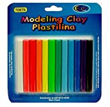 Soft Modeling Clay Plastilina 12 Colors, Case Pack of 48