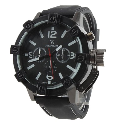 Case Military Man Stainless Steel Wrist Watch White ()
