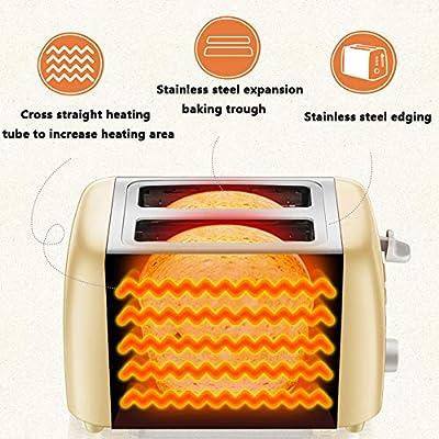 MIAO. 2 Slice Toaster, Acero Inoxidable Tostadora - 6 Browning ...