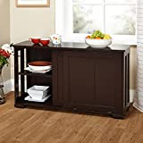 New Kitchen Storage Island Cabinet Wood Top Buffet Cupboard Counter Table