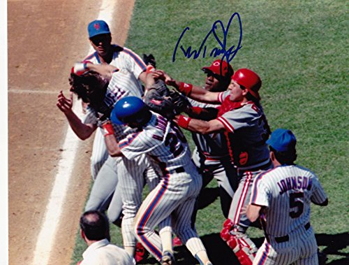 Signed Teufel Photo - DIBBLE FIGHT 8x10 - Autographed MLB Photos