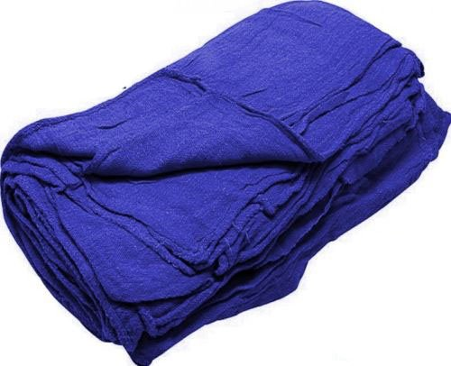 GHP 500-Pcs Indigo 13''x14'' Cotton Osnaburg Preshrunk Shop Mechanics Shop Rag Towels